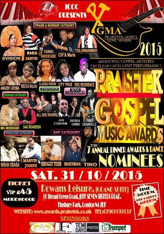 PGMA - PRAISETEK GOSPEL MUSIC AWARDS 2015 (PGMA)